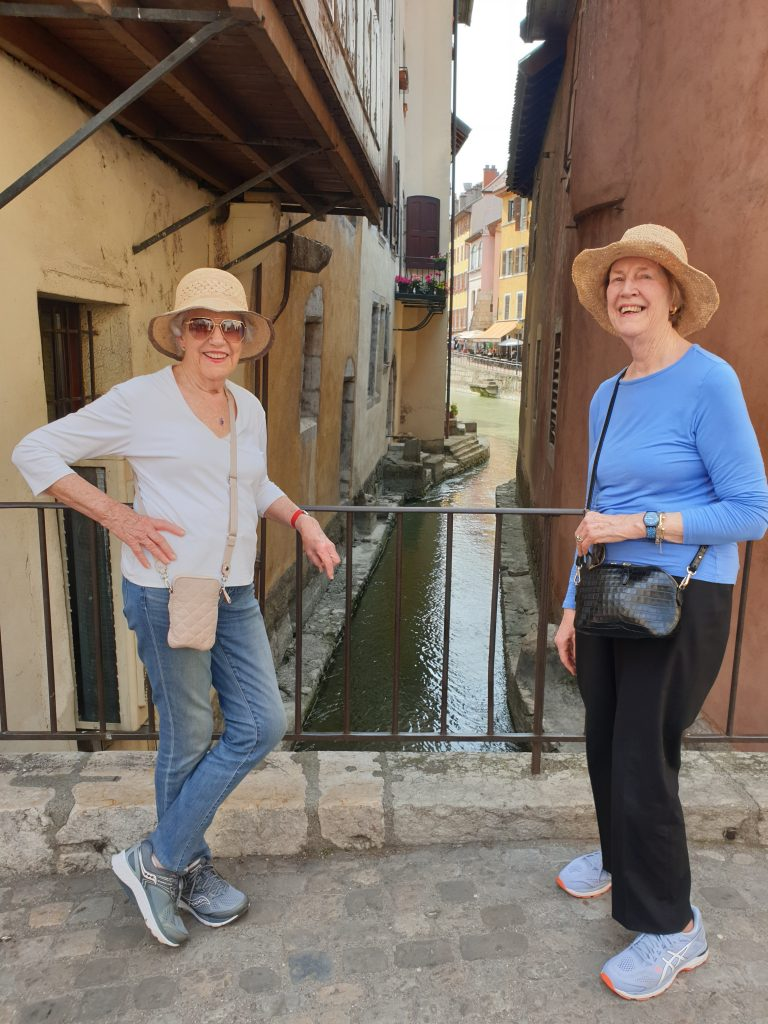 My 89-year-old Godmother (left) walking the talk